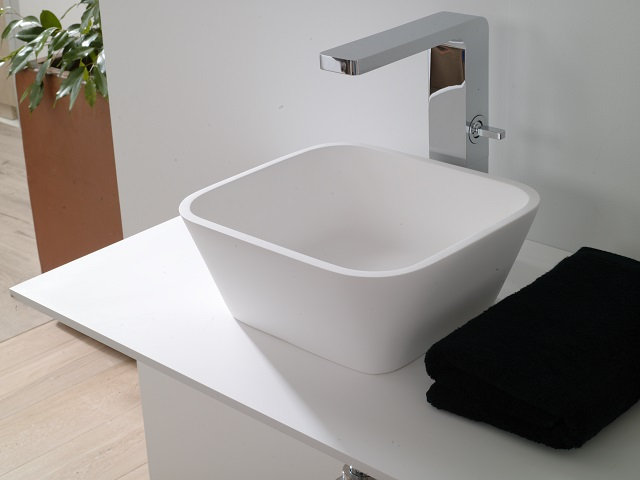 conoce krion® a fondo: libertad de figuras. Solid Surface para equipamiento baño