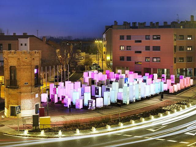 proyectos krion®: plaza de las ciudades hermanas (valladolid). Solid Surface para productos