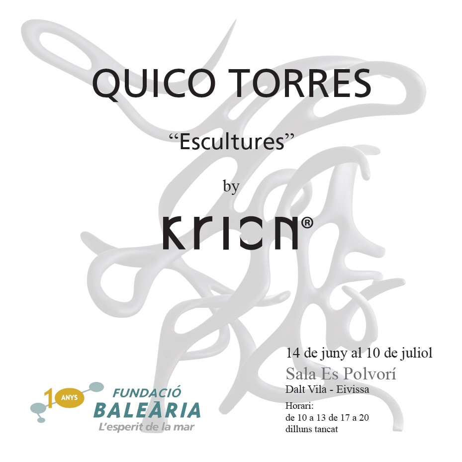 first exhibition made entirely of krion® by quico torres. Solid Surface for produkty