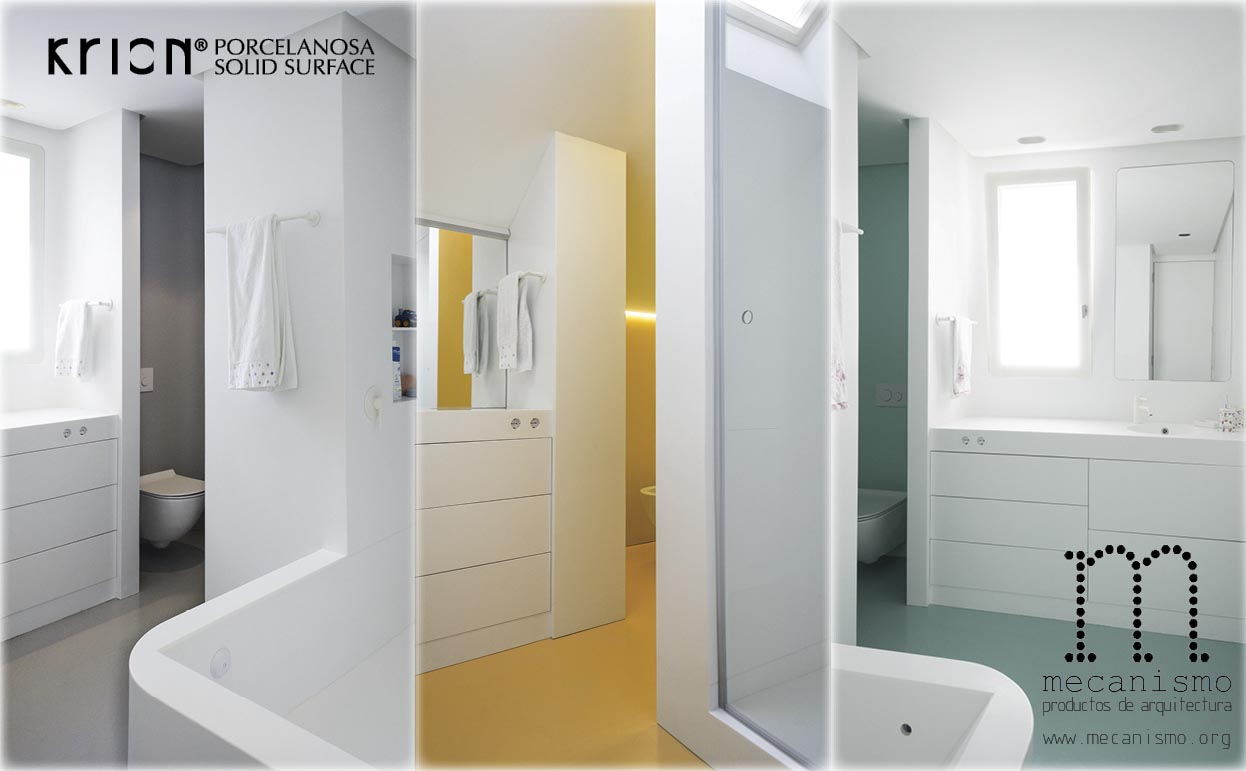 """mecanismo presents the """"cápsula"""" concept for bathrooms, made with krion®. Solid Surface  Жилые объекты"""
