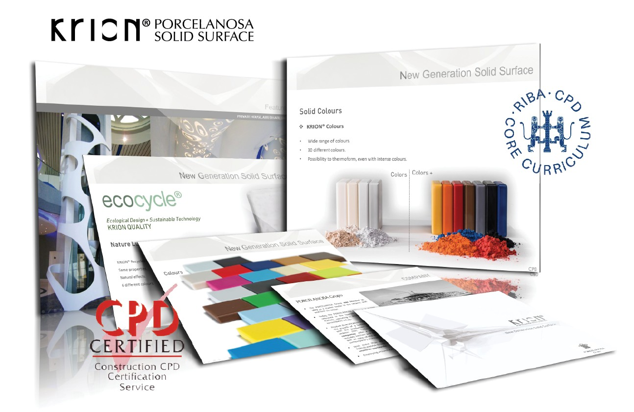 """NEW GENERATION OF SOLID SURFACE"" seminar by KRION® awarded CPD certification"