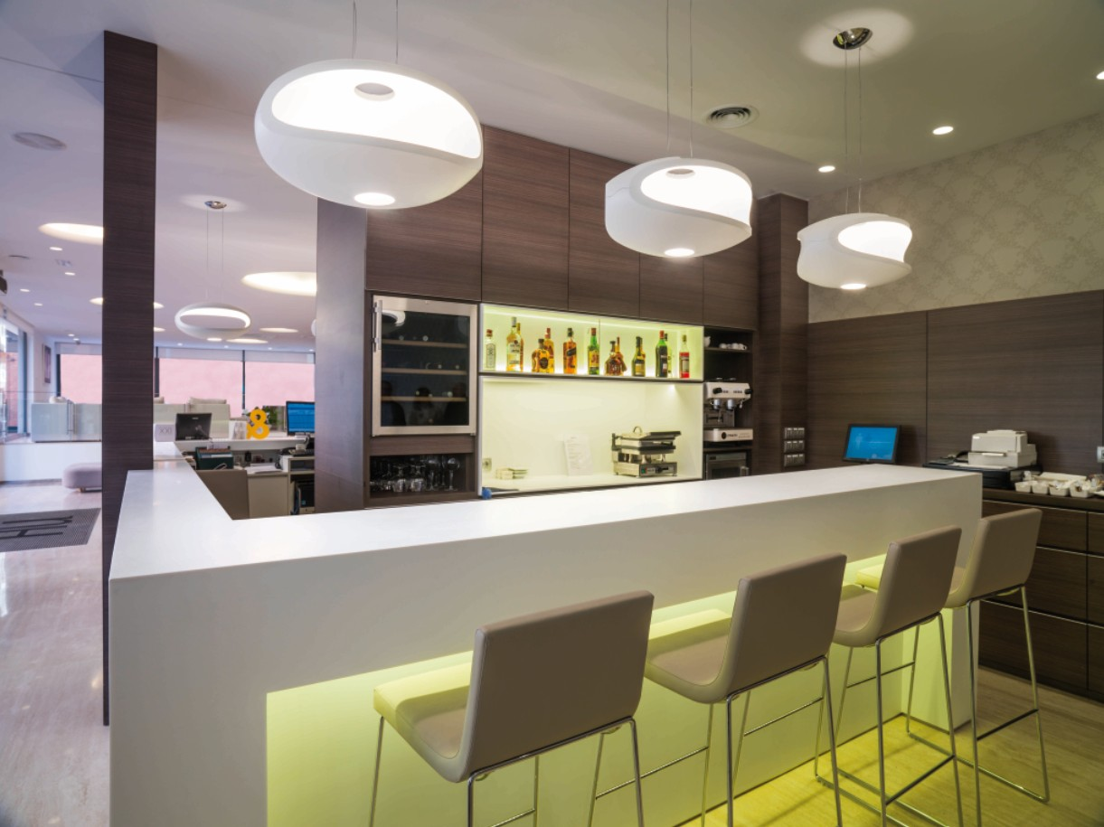 Krion at the hotel nh mindoro solid surface krion - Porcelanosa castellon ...