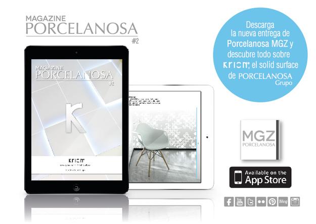 Ya disponible la APP para iPad, Porcelanosa MGZ – KRION®