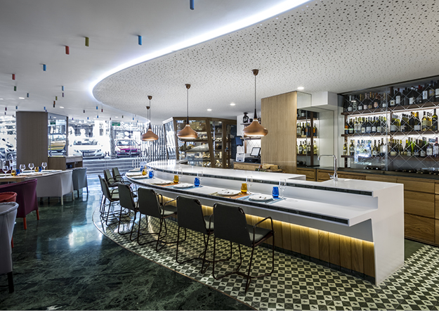 Cheese Bar Barcelona by estudi{H}ac – KRION®