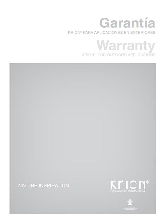 Garantie Exterieur KRION® Solid Surface