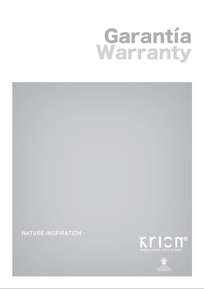 Interior Warranty KRION™ Solid Surface
