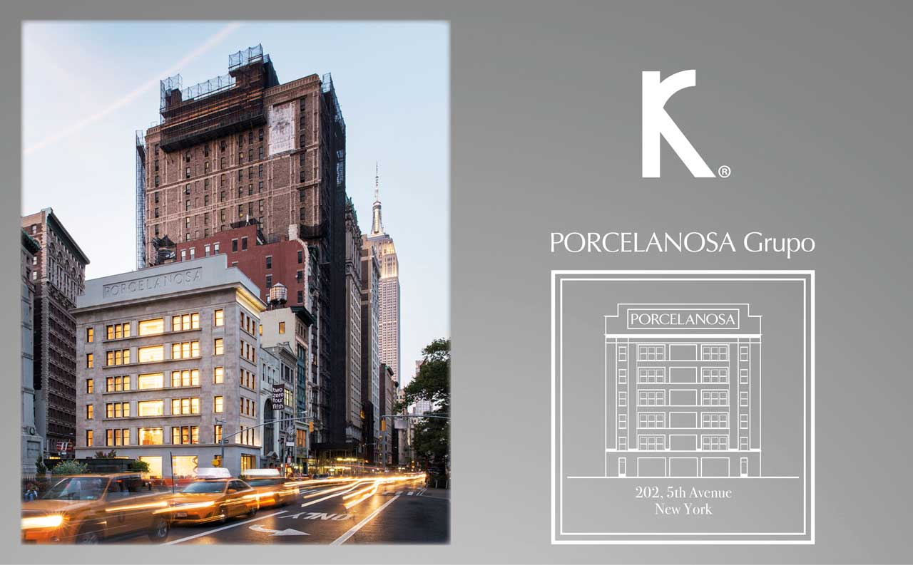 at porcelanosa group we give you a bite of the big apple, new york. Solid Surface pour carreaux de mur