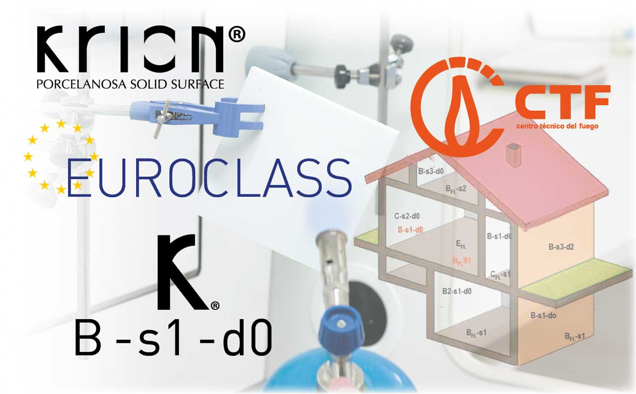 KRION® and its Euroclass B-s1-d0 classification. Does anyone offer more?