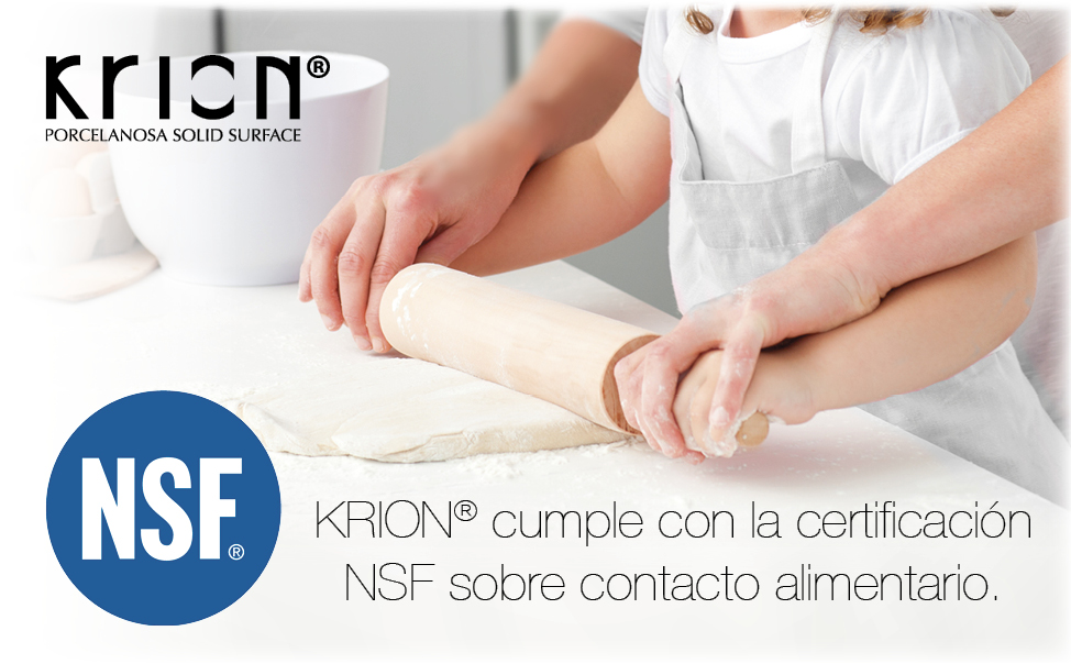 Krion Complies With The Nsf Certification For Food Contact