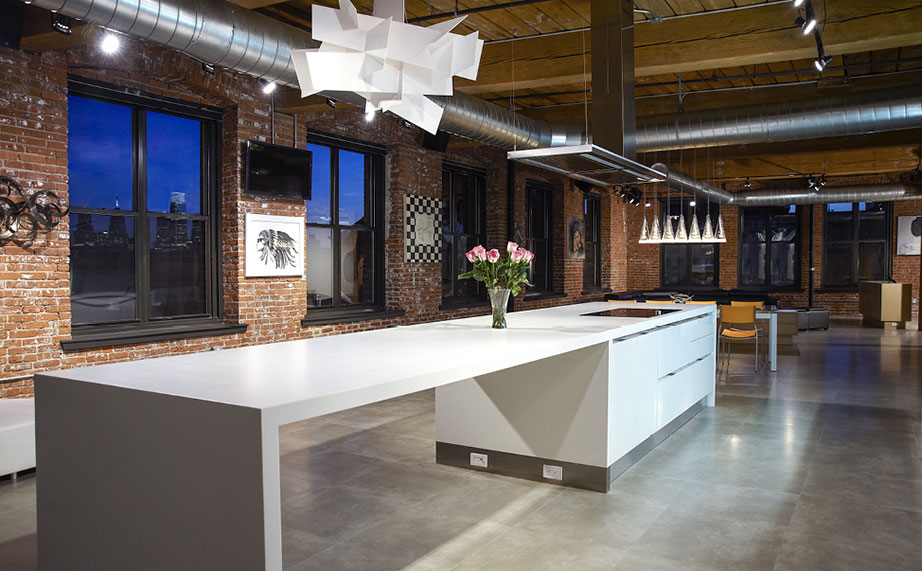 krion® in un loft da incorniciare di philadelpia, usa. Solid Surface per ristorazione
