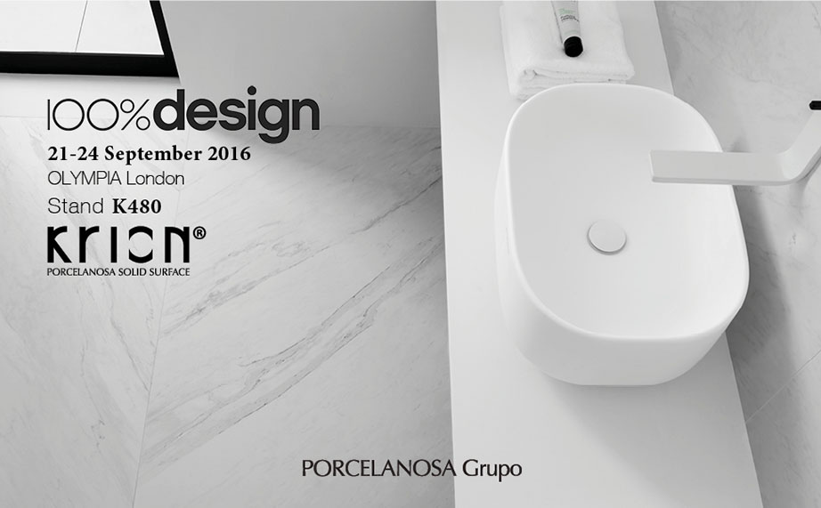 Where there is design there is PORCELANOSA KRION®: 100 % Design London - Solid Surface