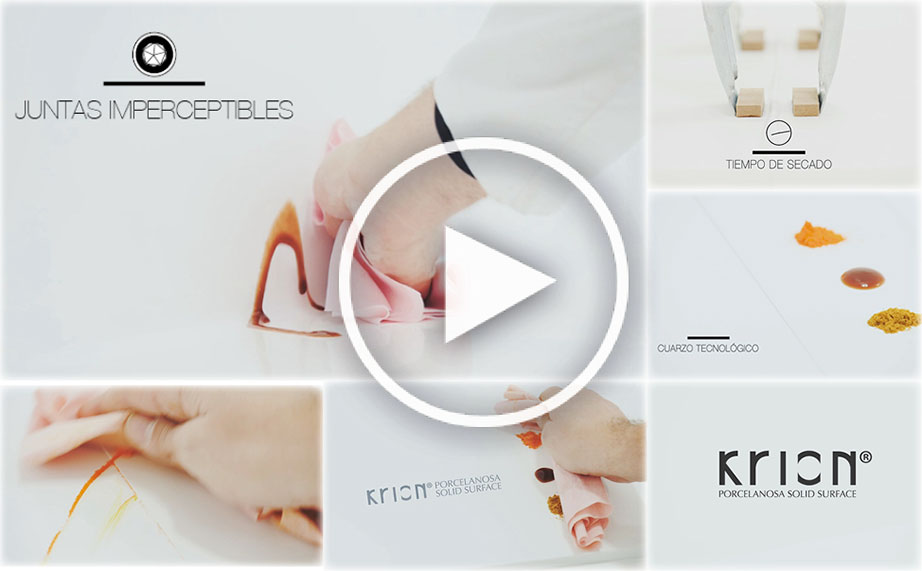 "Videos ensayos KRION® ""Juntas Imperceptibles"" Solid Surface"