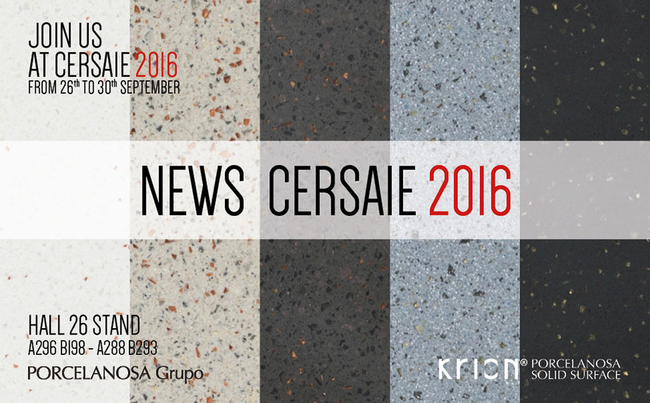 Discover the new products from KRION® at CERSAIE 2016 - Solid Surface