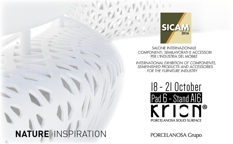 KRION® present at SICAM 2016 - Solid Surface