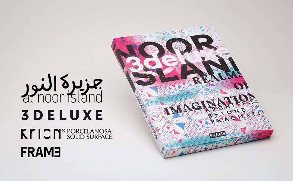 "krion® highlighted in the new 3deluxe book ""noor island – realms of imagination"".   design"