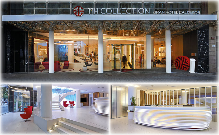 KRION® in the emblematic building of NH Collection Barcelona Gran Hotel Calderón