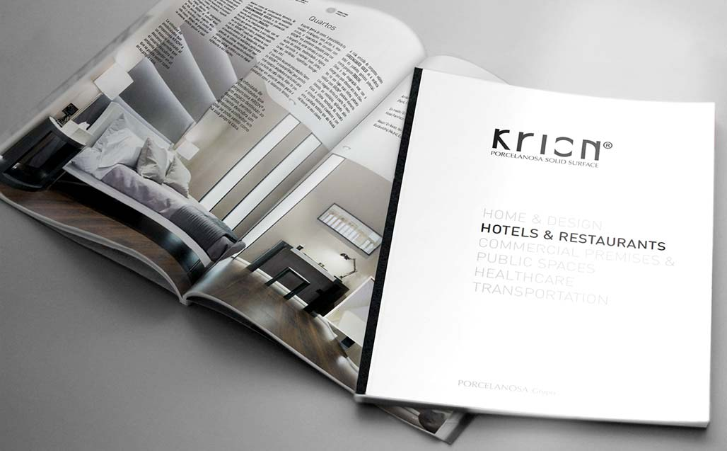 "Catálogo KRION® ""HOTELS & RESTAURANTS"" - Solid Surface"