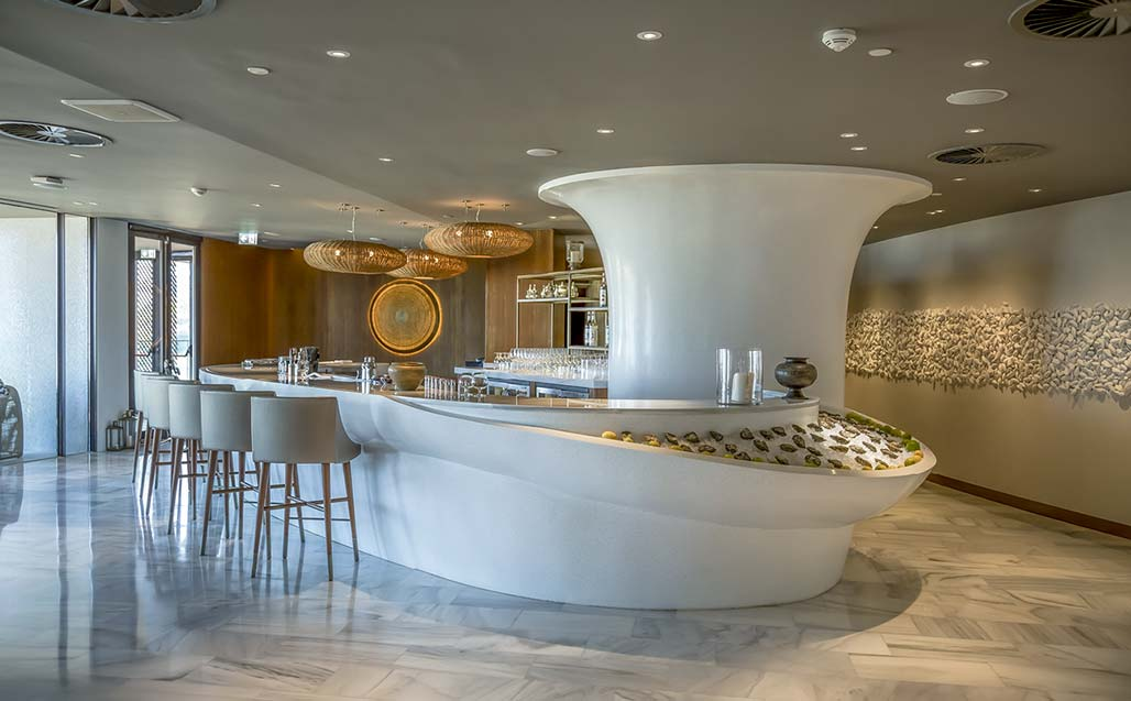 krion® in the luxurious four seasons hotel in casablanca, morocco. Solid Surface for hotels