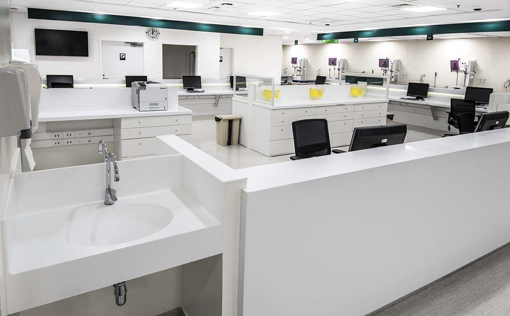 KRION®, the ideal material for Healthcare, at Clínica las Condes, Santiago de Chile - Solid Surface