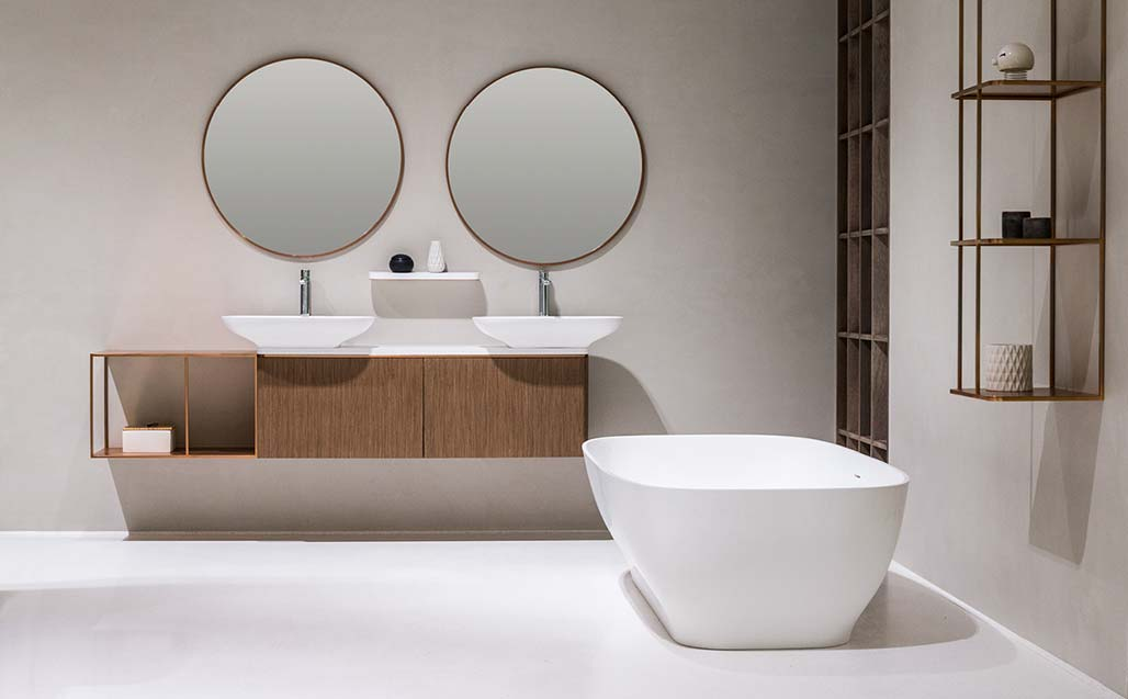 Serie PURE by Yonoh per KRION® BATH - Solis Surface