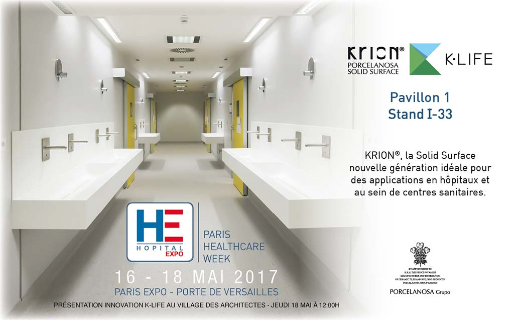 KRION® présent au Salon HÔPITAL EXPO - PARIS - Solid Surface