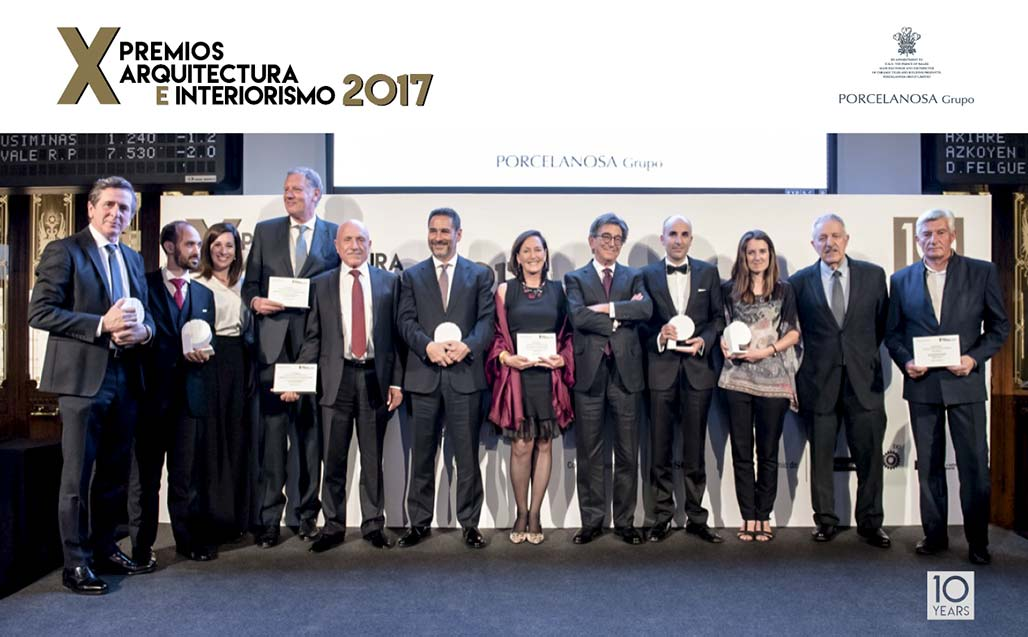 All the winners from the PORCELANOSA Grupo X Awards in Architecture and Interior Design