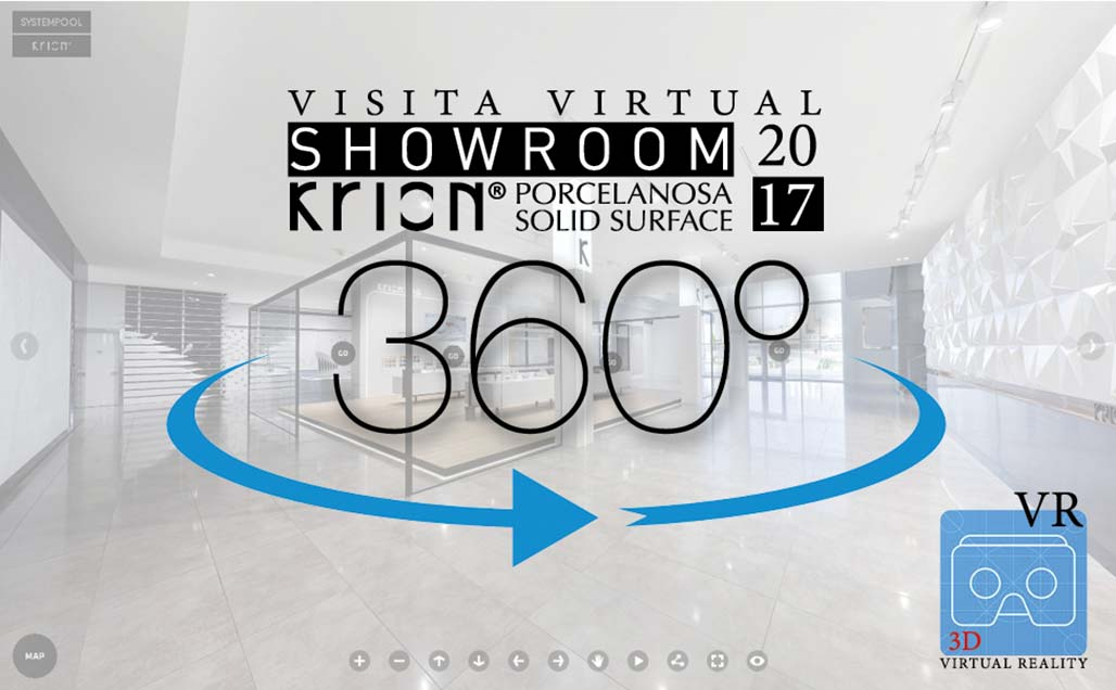 KRION® 2017 Showroom 360º Virtual Visit - Solid Surface