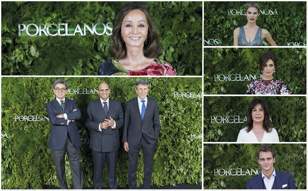 Isabel Preysler, Amaia Salamanca and Nieves Álvarez along with other invited guests, celebrate the opening of the new Porcelanosa Showroom in Madrid