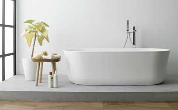 ARCH bathtub – subtlety, elegance and practicality with a touch reminiscent of natural Stone, from KRION® BATH
