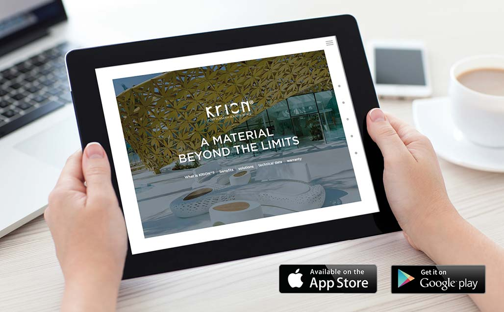 New version of the KRION application for iPad (IOS) and Tablet (Android) Solid Surface