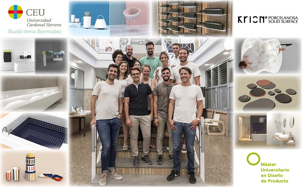 krion collaborates with the ceu university in the master's in product design taught by inma bermúdez studio. Solid Surface  products