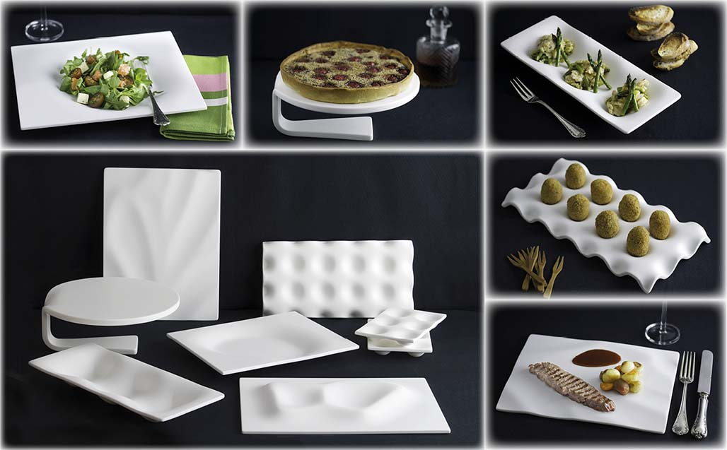 """platos y pizarras"" transform krion into new generation kitchenware for the most demanding chefs. Solid Surface  produkty"