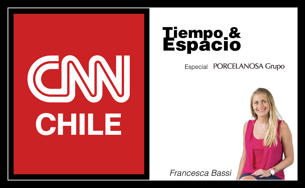 "The CNN Chile programme ""Tiempo & Espacio"", makes a PORCELANOSA special, putting particular emphasis on KRION"