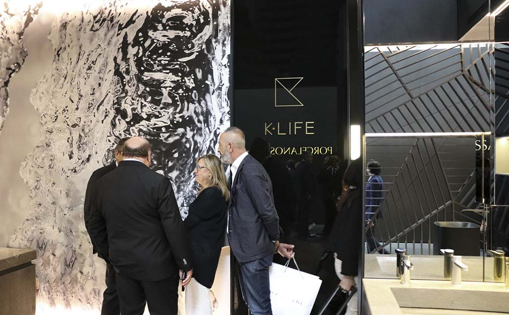 CERSAIE 2017 – presentation of K-LIFE to the press in Bologna; and soon to the rest of the world