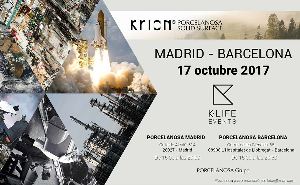 Madrid and Barcelona to host simultaneous presentations of KRION K-LIFE next 17 October - Solid Surface