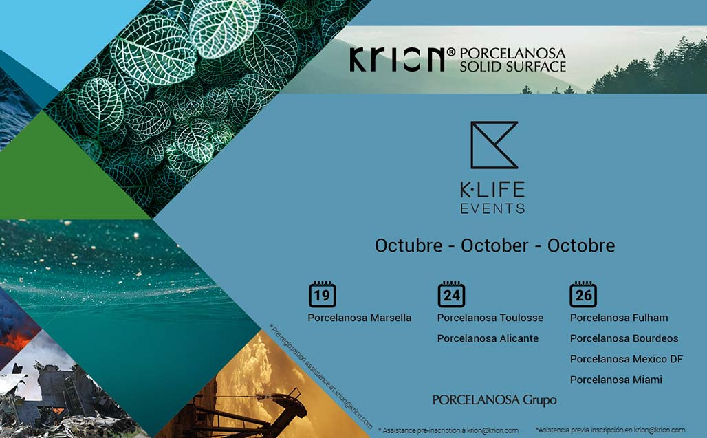 The global presentation of K-LIFE continues in October – Spain, France, UK, Mexico, USA - Solid Surface
