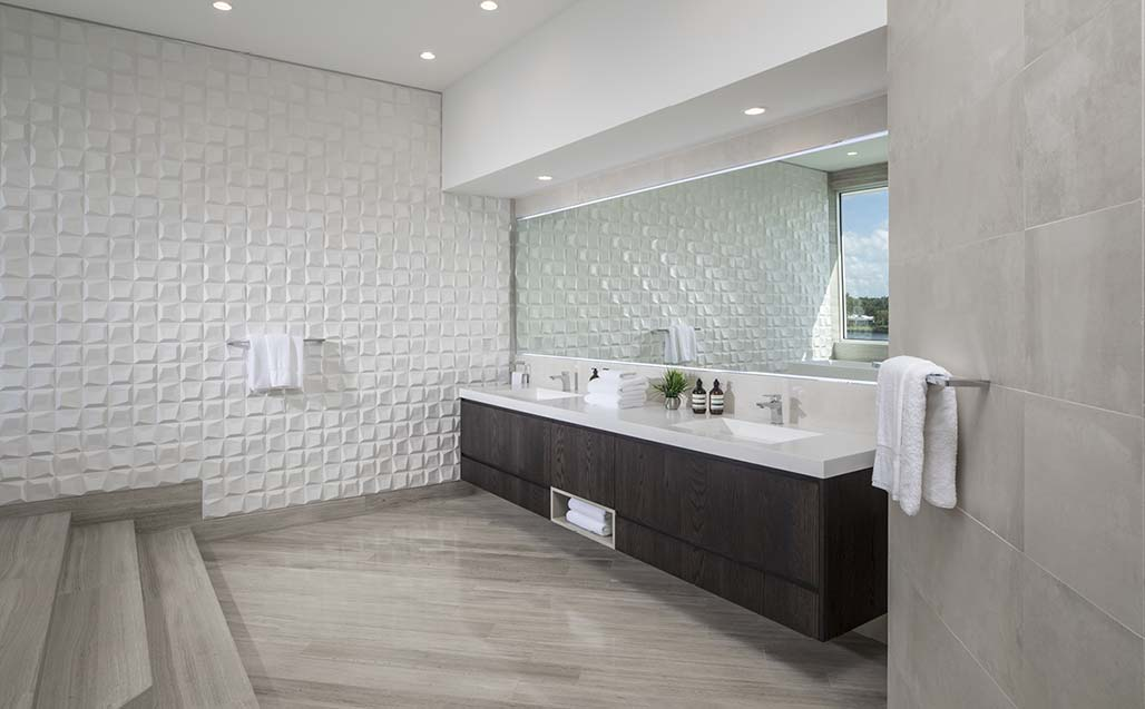 AGD Architects designs luxury and wellbeing with KRION Solid Surface, in Gables Estates Club, Miami