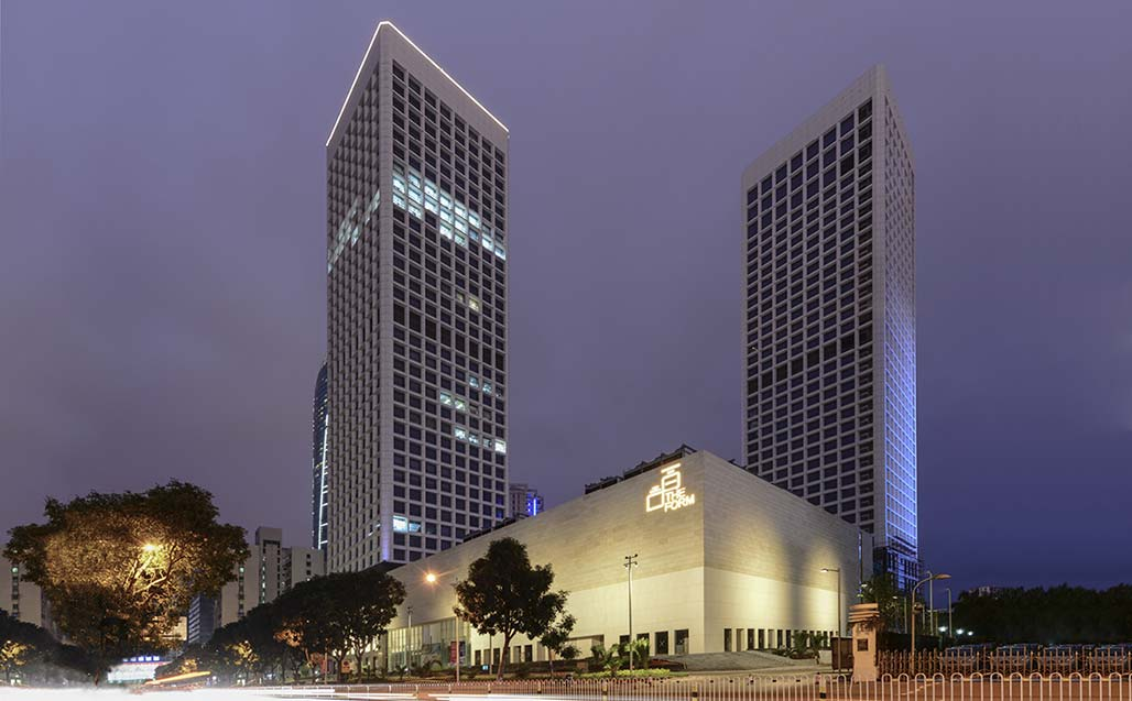 47,000m2 of ventilated facade completed by architects Wilson Associates, created with KRION Solid Surface in Haikou - China