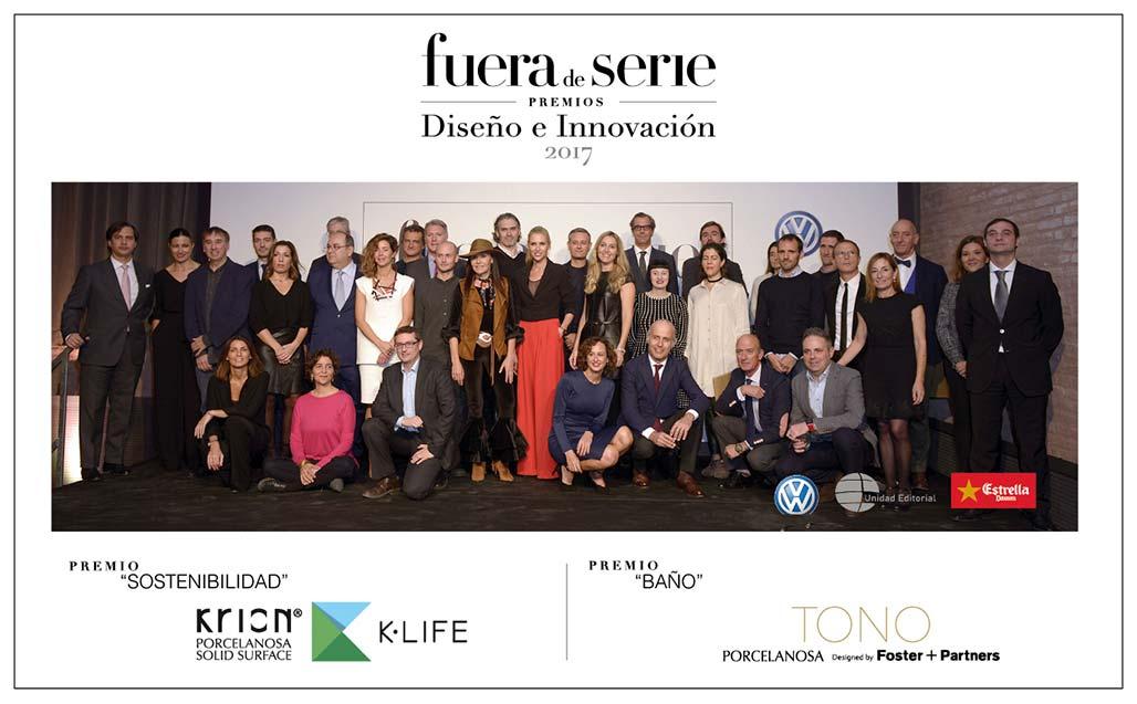 """La revista """"Fuera de Serie"""" premia doblemente a KRION, con K-LIFE y TONO Series - Solid Surface"""