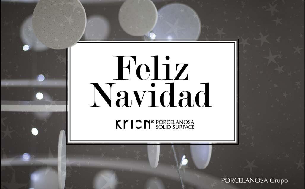 Feliz Navidad y próspero Año Nuevo - KRION PORCELANOSA SOLID SURFACE