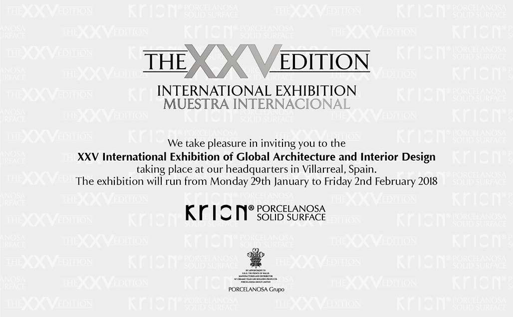 Il design del futuro arriva con la XXV Mostra Internazionale di Architettura Globale & Interior Design - Solid Surface