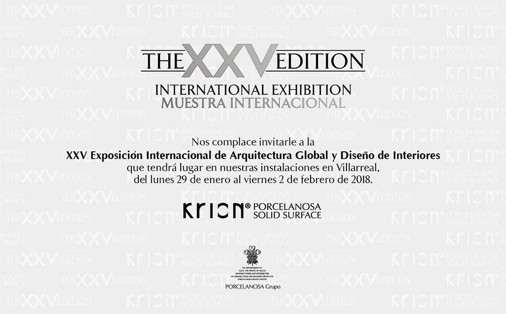 El diseño del futuro llega con la XXV Muestra Internacional de Arquitectura Global & Diseño Interior - Solid Surface