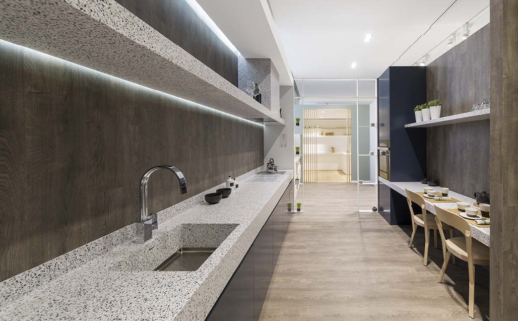 XXV Muestra Internacional de PORCELANOSA Grupo - KRION SHOWROOM / Home - Atelier - Solid Surface