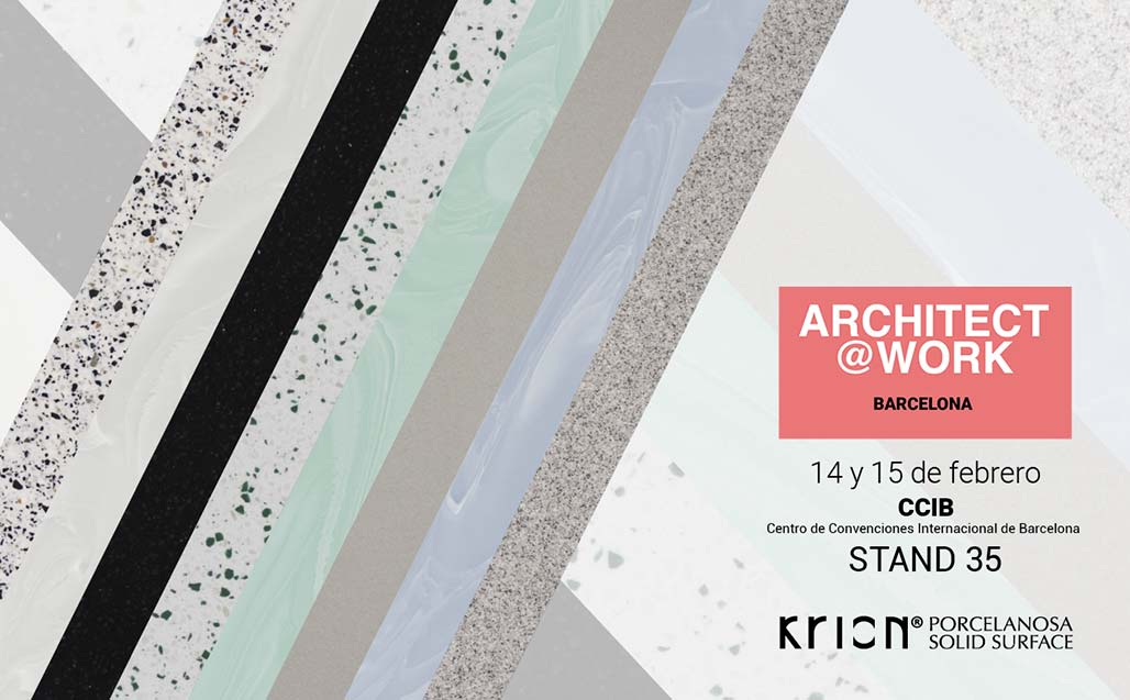 KRION Solid Surface present at Architect@Work Barcelona