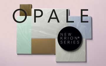 "News KRION: OPALE Series ""Movement, light and versatility"""