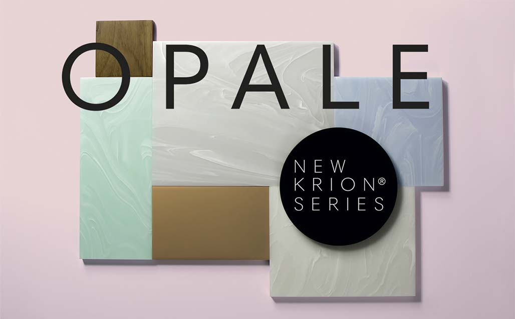 "News KRION: OPALE Series ""Movement, light and versatility"" - Solid Surface"