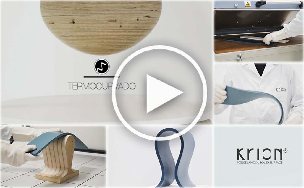 "Video dimostrativi KRION Solid Surface ""Termoformatura"""