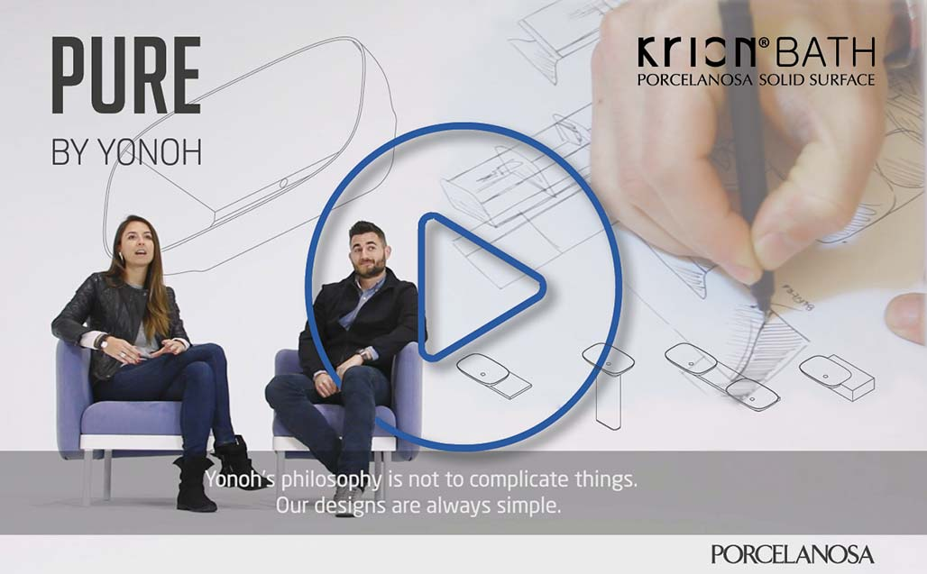 Yonoh Studio presents the PURE Series, its versatile design for KRION Bath