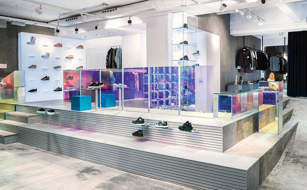 "KRION Solid Surface in the industrial and futuristic visión of A.P.O. for ""SVD - sivasdescalzo"" Madrid"