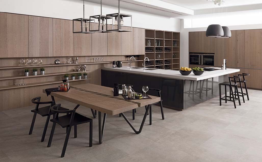 krion in the emotions collection from porcelanosa kitchens – gamadecor. Solid Surface  casas